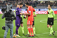 Gianluigi Buffon Juventus, davide Astori Fiorentina <br /> Firenze 09-02-2018 Stadio Artemio Franchi  Football Calcio Serie A 2017/2018 Fiorentina - Juventus . Foto Andrea Staccioli / Insidefoto<br /> Fiorentina captain Davide Astori dies suddenly aged 31 . <br /> Astori was staying a hotel with his team-mates ahead of their game on Sunday away at Udinese when he passed away. <br /> Foto Insidefoto