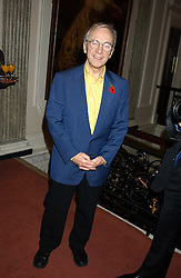 Actor ANDREW SACHS at a party to celebrate the anniversary of the launch of Talking Books held at The Arts Club, 40 Dover Street, London W1 on 8th November 2005.<br />