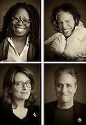 Whoopi Goldberg, Steven Tyler, Jon Stewart, Tina Fey -- Superstorm Sandy telethon, New York, NY