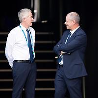 Craig Tiley and Wayne McKeown on day four of the 2018 Australian Open in Melbourne Australia on Thursday January 18, 2018.<br /> (Ben Solomon/Tennis Australia)