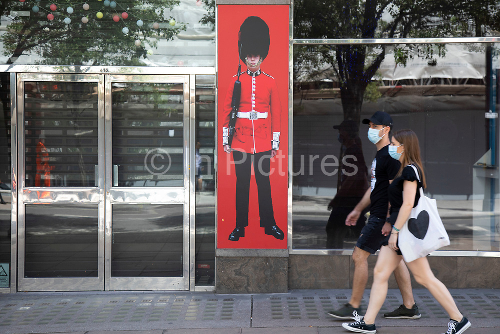 As the Coronavirus lockdown measures are set to ease further, the west end starts to fill with people as they return to the shopping district on Oxford Street and the quiet city starts coming to an end on 22nd June 2020 in London, England, United Kingdom. As of today the government has relaxed its lockdown rules, and is allowing some non-essential shops to open with individual shops setting up social distancing queueing systems.