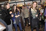 LOUISE CAMU; ALBA ARIKHA, Book launch for Major/Minor by Alba Arikha. A  memoir about her adolescence in Paris published by Quartet Books. Daunts. London. 8 November 2011<br /> <br />  , -DO NOT ARCHIVE-© Copyright Photograph by Dafydd Jones. 248 Clapham Rd. London SW9 0PZ. Tel 0207 820 0771. www.dafjones.com.