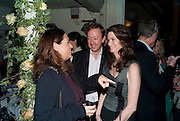 ALEX SHULMAN; GEORDIE GREIG; KATHERINE GREIG, Party for Perfect Lives by Polly Sampson. The 20th Century Theatre. Westbourne Gro. London W11. 2 November 2010. -DO NOT ARCHIVE-© Copyright Photograph by Dafydd Jones. 248 Clapham Rd. London SW9 0PZ. Tel 0207 820 0771. www.dafjones.com.