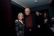 CECILIA HART; JAMES EARL JONES;  FLYNN EARL JONES, The Centrepoint Paramount Club afterparty following the press night of 'Cat On A Hot Tin Roof', at the Novello Theatre, Aldwych, London.  1 December 2009