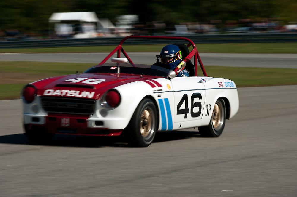 October 28-30 2011; HSR Savannah Speed Classic; William Power exits turn 4 with the 1968 Datsun Roadster Grand Prize of America Track, Hutchinson Island, Savannah, Georgia USA ;  Photo Credit: Scott LePage-MotorRacingPhoto  © 2011 Scott LePage  http://MotorRacingPhoto.com