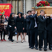 The funeral of Tony Benn at St Margaret's Church Westminster Abbey. Tony Benn was a politician, MP and peace activist fighting for social justice.