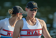 Henley-on-Thames. United Kingdom.  <br /> Women's Pair. USA W2-. Bow. Megan KALMOE and Tracy EISSER.  2017 Henley Royal Regatta, Henley Reach, River Thames. <br /> <br /> 18:45:08  Saturday  01/07/2017   <br /> <br /> [Mandatory Credit. Peter SPURRIER/Intersport Images.