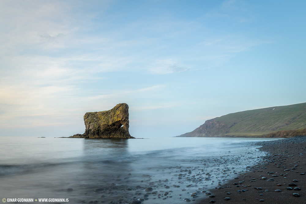 Ljósastapi is a rock formation in Vopnafjordur -East Iceland. Resembles an elephant so the locals call it Fíllinn (The elephant).