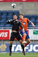 Fotball, <br /> 30.06.2011 , <br /> europa league , <br /> 1 quaql 1 leg,<br /> Aalesund - neath fc 4-1 ,<br /> Color line stadion ,  <br /> Daniel arnefjord - aalesund<br /> Luke bowen - neath fc<br /> <br /> Foto: Richard brevik , Digitalsport