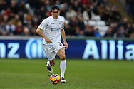 Jack Cork of Swansea city in action. Premier league match, Swansea city v Burnley at the Liberty Stadium in Swansea, South Wales on Saturday 4th March 2017.<br /> pic by Andrew Orchard, Andrew Orchard sports photography.