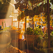 Morning sunbeams through the Mani Sithu market stalls in Nyaung-U, Bagan. A fascinating and sprawling market for all sorts of everyday goods - great to explore (although for me the low ceilings in the covered sections were a little challenging)