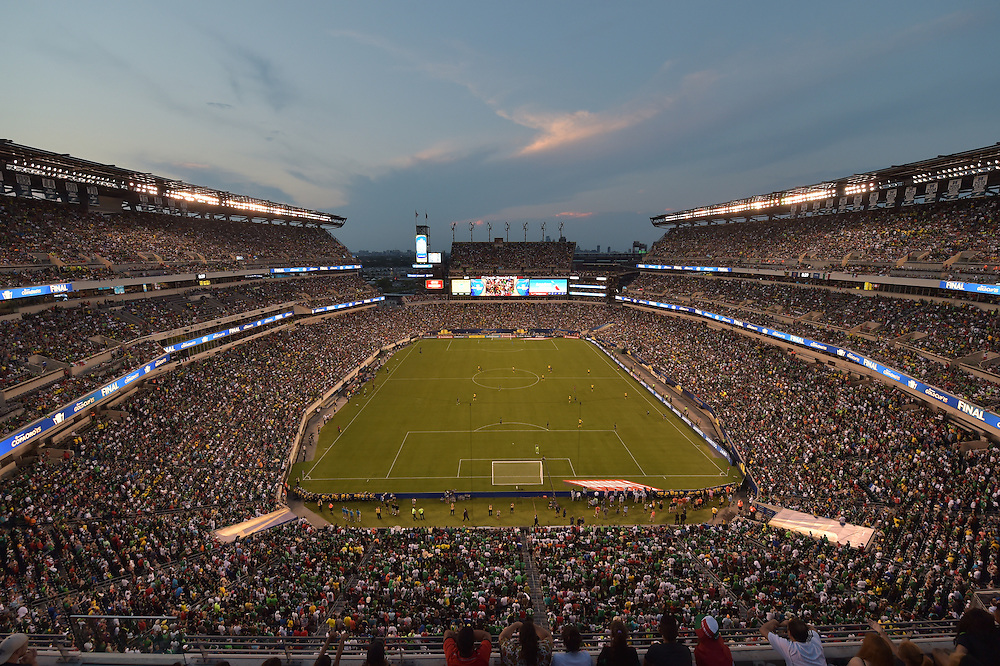 Mexico beat Jamaica 3-1 for the CONCACAF Cup at Lincoln Financial Field on July 26, 2015 in Philadelphia, Pennsylvania. (Photo by Drew Hallowell/Philadelphia Eagles)