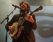 FAIRFAX, VA - February 28th, 2014 - Scott Avett of The Avett Brothers perform at the Patriot Center in Fairfax, VA. Their latest album, Magpie and the Dandelion, reached #5 on the U.S. Billboard 200 chart. (photo by Kyle Gustafson / For The Washington Post)