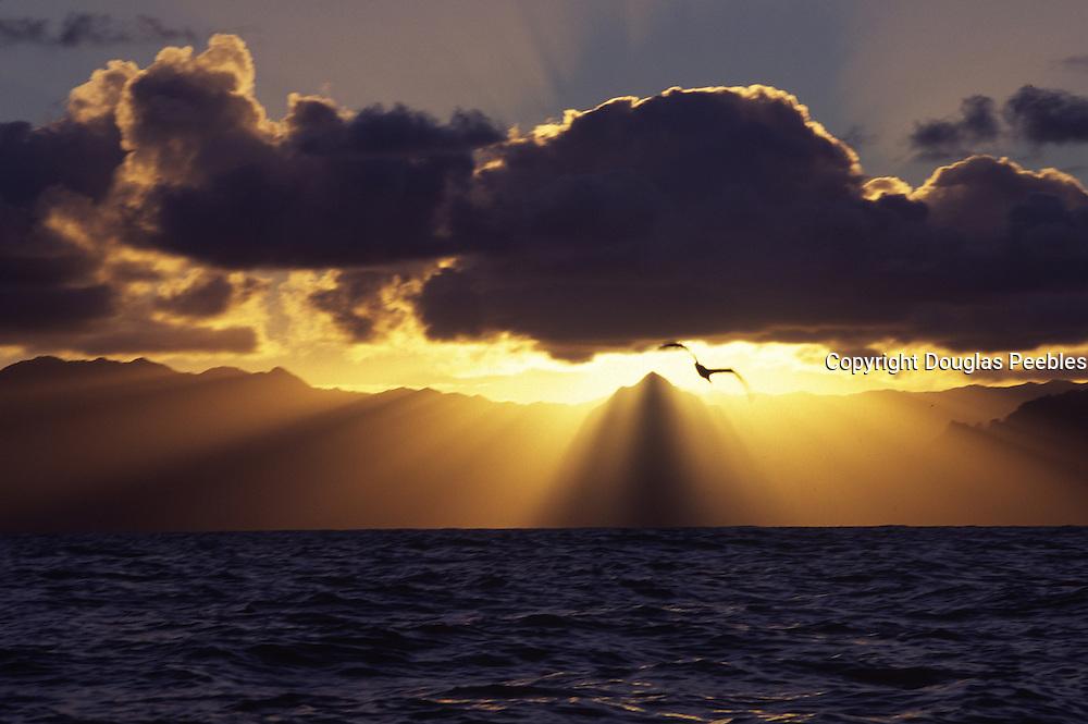 Sunset, Kaneohe Bay, Oahu, Hawaii<br />