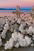 Tufa in Water after Sunset, Mono Lake, Mono Basin National Forest Scenic Area, California