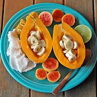 Hawaiian fruit plate