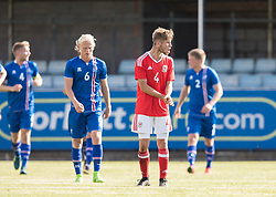 RHYL, WALES - Saturday, September 2, 2017: Wales' Ryan Reynolds rallies his team during an Under-19 international friendly match between Wales and Iceland at Belle Vue. (Pic by Gavin Trafford/Propaganda)