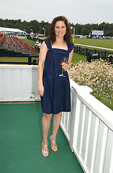 Actress EVA BIRTHISTLE at the Queen's Cup polo final sponsored by Cartier at Guards Polo Club, Smith's Lawn, Windsor Great Park on 18th June 2006.  The Final was between Dubai and the Broncos polo teams with Dubai winning.<br /><br />NON EXCLUSIVE - WORLD RIGHTS