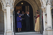 QUEEN ELIZABETH 11; PRINCE PHILIP , Service of thanksgiving for  Lord Snowdon, St. Margaret's Westminster. London. 7 April 2017