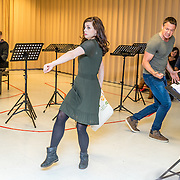 NLD/Amsterdam/20170109 - 1e Repetitiedag musical 'Into the Woods', Elise Schaap en Paul Groot