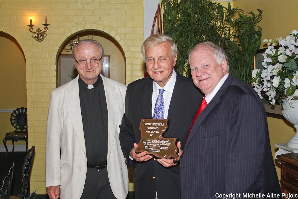 Crimefighters awards banquet honoring Frank Minyard, Orleans Parish Coroner.