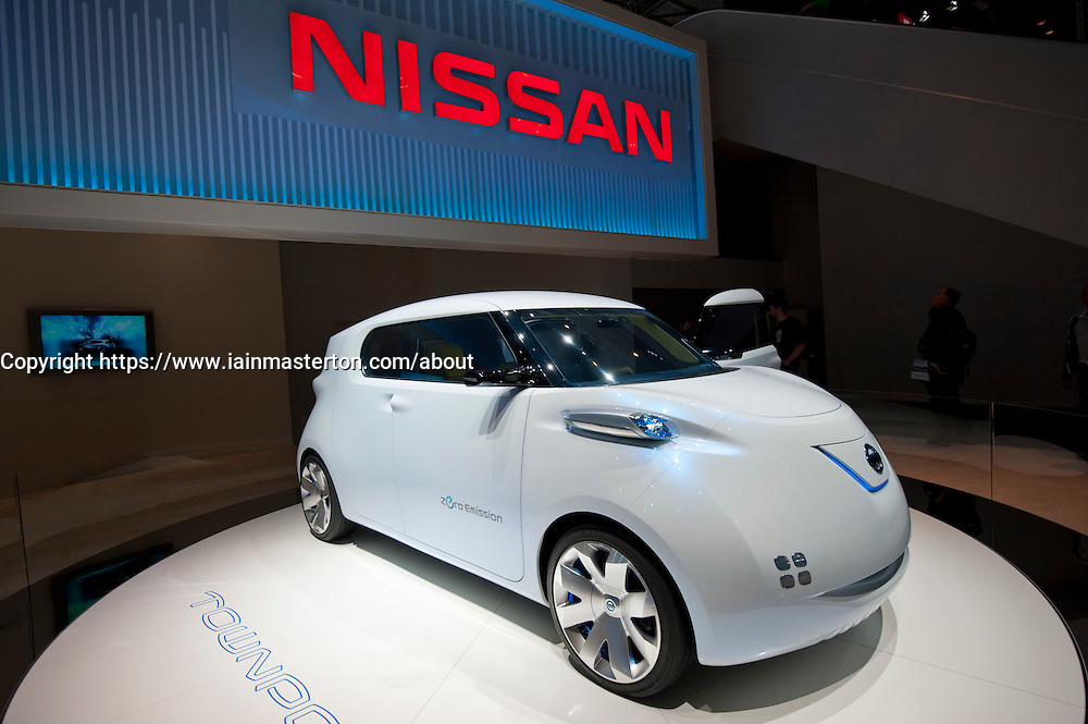 Nissan Townpod concept electric plug-in car at the Geneva Motor Show 2011  Switzerland