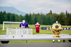 Trophies during official draw for Slovenian first football league for season 2018-2019, on June 21, 2018 in Nacionalni nogometni center Brdo pri Kranju, Kranj, Slovenia. Photo by Ziga Zupan / Sportida