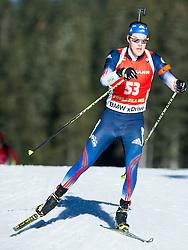 NORDGREN Leif (USA) competes during Men 12,5 km Pursuit at day 3 of IBU Biathlon World Cup 2014/2015 Pokljuka, on December 20, 2014 in Rudno polje, Pokljuka, Slovenia. Photo by Vid Ponikvar / Sportida