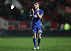 Birmingham City's Michael Morrison applauds the fans