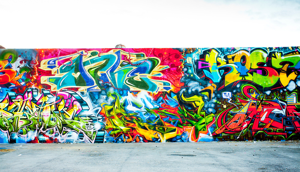 Graffiti mural in Miami's Wynwood District, famous for its street art