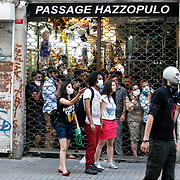Shops, galleries and passages were closed due to the police charges. Police charged against protestors gathering to enter Gezi Park. The riots extended from Taksim along Istiklal Avenue. Police shot plastic bullets, tear gas and water cannons, against the rocks and marbles of the protestors. Photo by AYKUT AKICI/TURKPIX