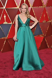 Wendi McLendon-Covey walking on the red carpet during the 90th Academy Awards ceremony, presented by the Academy of Motion Picture Arts and Sciences, held at the Dolby Theatre in Hollywood, California on March 4, 2018. (Photo by Sthanlee Mirador/Sipa USA)