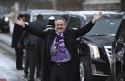 February 3, 2018 - Minneapolis, MN, USA - Minnesota Vikings owner Zygi Wilf acknowledges cheering fans as he walks from his limo to the Red Carpet after arriving at the NFL Honors event in Minneapolis on Saturday, Feb. 3, 2018. (Credit Image: © Jeff Wheeler/TNS via ZUMA Wire)