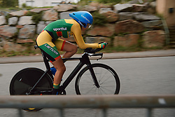 Auske Strainyte (LTU) at the 2020 UEC Road European Championships - Junior Women ITT, a 25.6 km individual time trial in Plouay, France on August 24, 2020. Photo by Sean Robinson/velofocus.com
