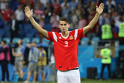 July 7, 2018 - Sochi, Russia - July 07, 2018, Sochi, FIFA World Cup 2018, the playoff round. 1/4 finals of the World Cup. Football match Russia - Croatia at the stadium Fisht. Player of the national team Ilya Kutepov (Credit Image: © Russian Look via ZUMA Wire)