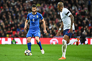 Italy Forward Antonio Candreva (6) in action during the Friendly match between England and Italy at Wembley Stadium, London, England on 27 March 2018. Picture by Stephen Wright.
