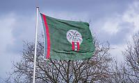 HALFWEG - Vlag met logo Amsterdamse Golf Club , . COPYRIGHT KOEN SUYK