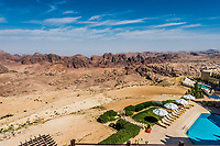 scenic view of the Petra valley in Jordan