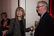 VICKI PRYCE, DANIEL JOHNSON, Literary Review  40th anniversary party and Bad Sex Awards,  In & Out Club, 4 St James's Square. London. 2 December 2019