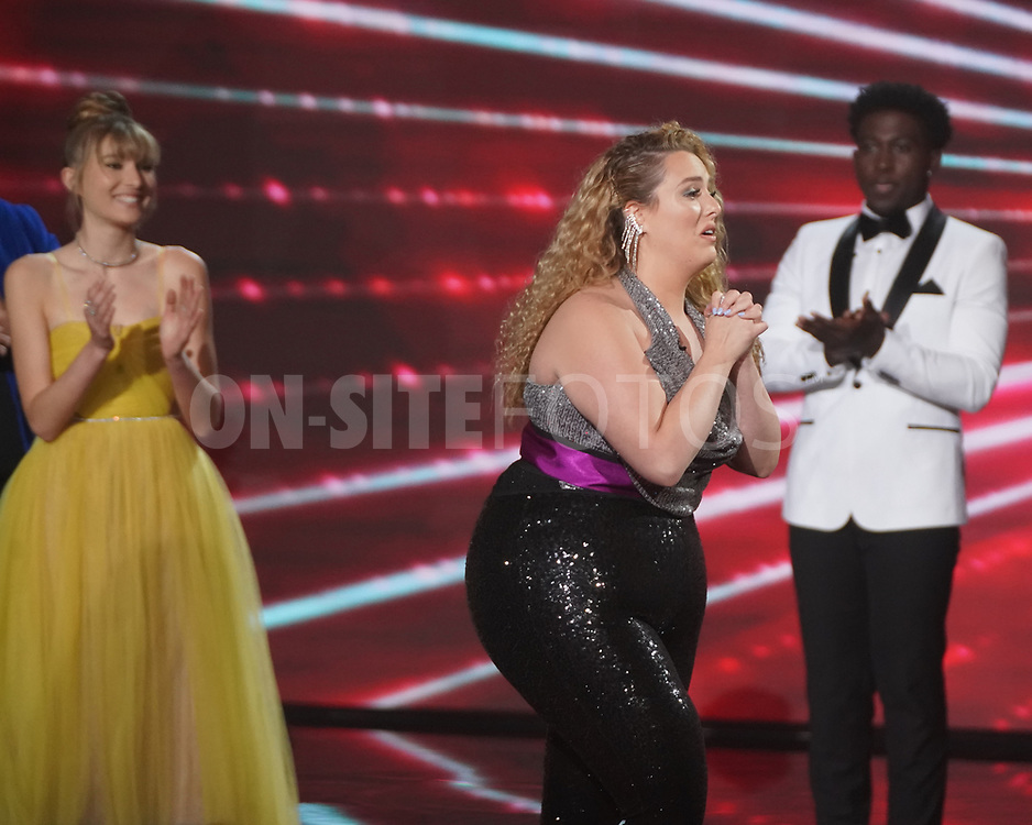 """AMERICAN IDOL – """"414 (Oscar Nominated Songs)"""" – The top 12 contestants perform Oscar®-nominated songs in hopes of securing America's vote into the top nine on an all-new episode of """"American Idol,"""" airing live coast-to-coast on SUNDAY, APRIL 18 (8:00-10:00 p.m. EDT), on ABC. (ABC/Eric McCandless)<br /> GRACE KINSTLER"""