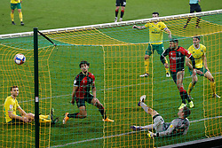 Maxime Biamou of Coventry City scores and celebrates the equaliser to make it 1-1 - Mandatory by-line: Phil Chaplin/JMP - 28/11/2020 - FOOTBALL - Carrow Road - Norwich, England - Norwich City v Coventry City - Sky Bet Championship