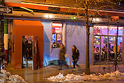 New York, NY - 11 February 2014. The exterior of Mission Cantina at 172 Orchard Street at the corner of Stanton Street, Danny Bowien's latest restarant on New York City's Lower East Side.