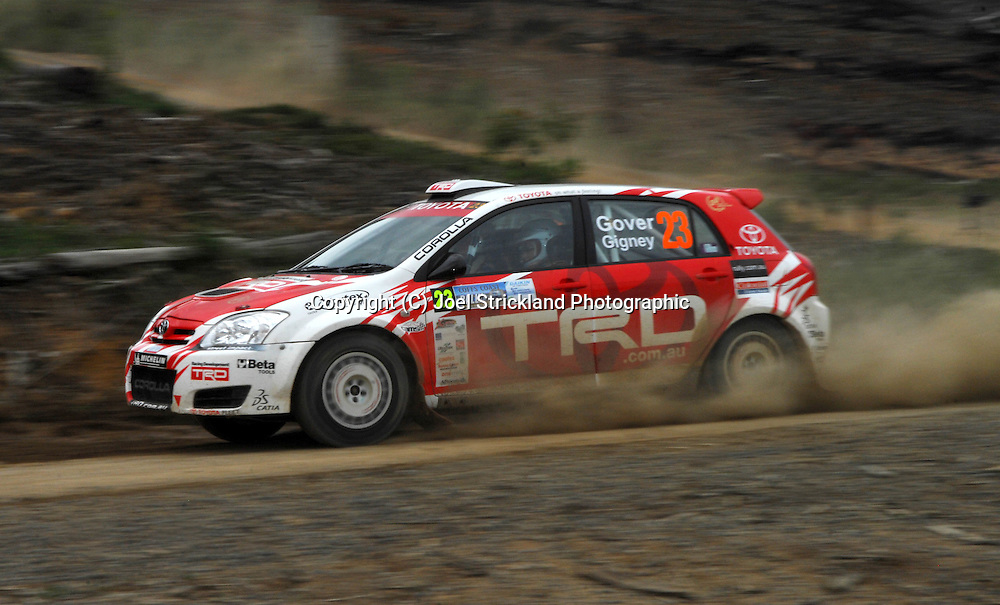 Paul Gover & Anne Gigney.Motorsport-Rally/2008 Coffs Coast Rally.Heat 2.Coffs Harbour, NSW.16th of November 2008.(C) Joel Strickland Photographics