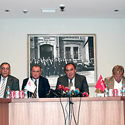 Turkish national soccer team new coach Fatih Terim (4ndL) attend a signing ceremony in Istanbul, Turkey on 22 August 2013. Turkish Football Federation has agreed a 1-year contract with Fatih Terim for Turkish A National Team Head Coach. Terim signed his contract today in TFF Headquarters, Istanbul with the participation of TFF President Yildirim Demirören, TFF Executive Board and TFF General Secretary. Fatih Terim will take charge of Turkey for the rest of their 2014 FIFA World Cup qualifying campaign, starting next month, while remaining in his role as coach of Galatasaray. Photo by TURKPIX