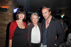 SAM PELLY and his wife SUSI and his mother AMANDA PELLY at a screening of the short film 'The Volunteer' held at the Courthouse Hilton Hotel, 19-21 Great Marlborough Street, London W1 on 26th October 2009.