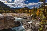 Elbow Falls in autumn in Kananaskis Country, Alberta, Canada