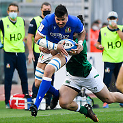 Roma 27/02/2021, Stadio Olimpico<br /> Guinness Six Nations 2021<br /> Italia vs Irlanda <br /> <br /> Sebastian Negri