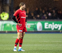 Richard Wigglesworth of Saracens<br /> <br /> Photographer Simon King/Replay Images<br /> <br /> European Rugby Champions Cup Round 4 - Cardiff Blues v Saracens - Saturday 15th December 2018 - Cardiff Arms Park - Cardiff<br /> <br /> World Copyright © Replay Images . All rights reserved. info@replayimages.co.uk - http://replayimages.co.uk