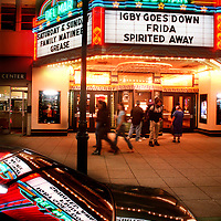The Del Mar Theater's neon lights come to life thanks to new ownership after the downtown Santa Cruz landmark has been dark for 3 years after being abandoned by United Artists.<br /> Photo by Shmuel Thaler <br /> shmuel_thaler@yahoo.com www.shmuelthaler.com