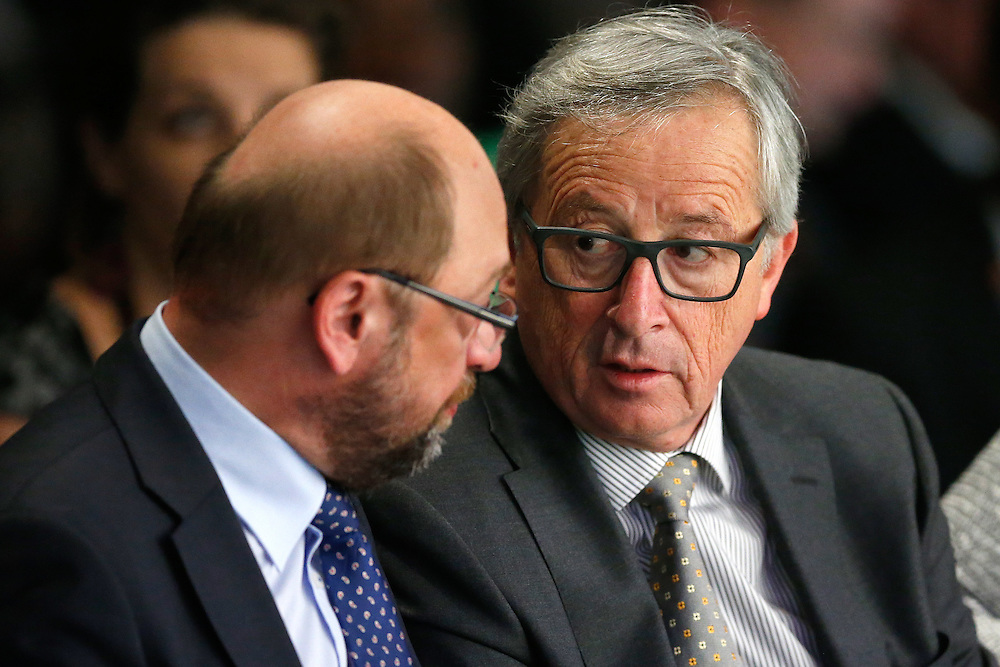 03 June 2015 - Belgium - Brussels - European Development Days - EDD - Opening Ceremony - Our World , our dignity , our future - Jean Claude Juncker , President of the European Commission - Martin Schulz , President of the European Parliament © European Union